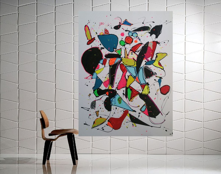 "40''x30""( 100x75cm), Joy of Life 4,  by Veronica Vilsan - Image 0"