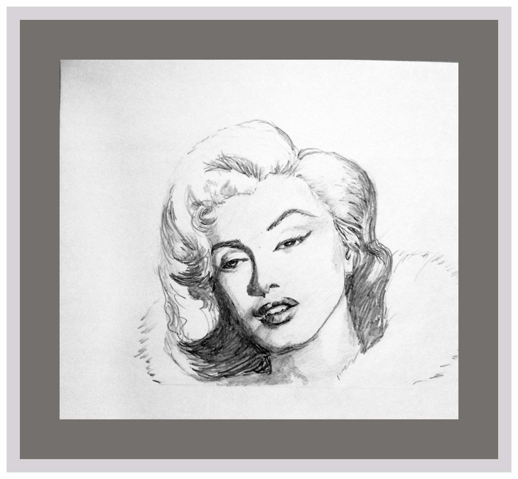 """Marilyn Monroe, the most beautiful face- 9.25""""x 8""""- - Image 0"""