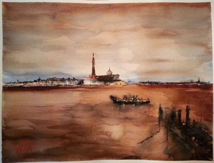 Dawn in Venice -