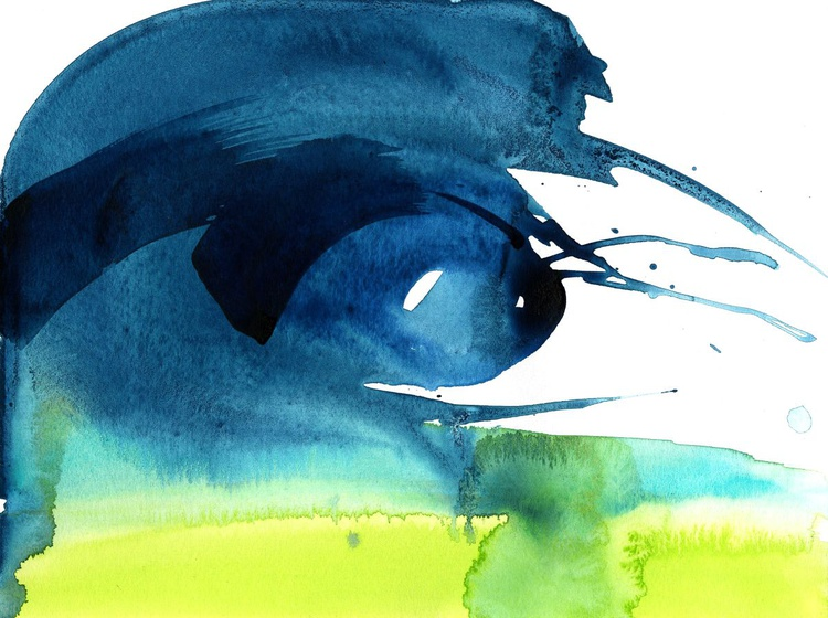Serenity 9 - Abstract Watercolor Painting by Kathy Morton Stanion - Image 0