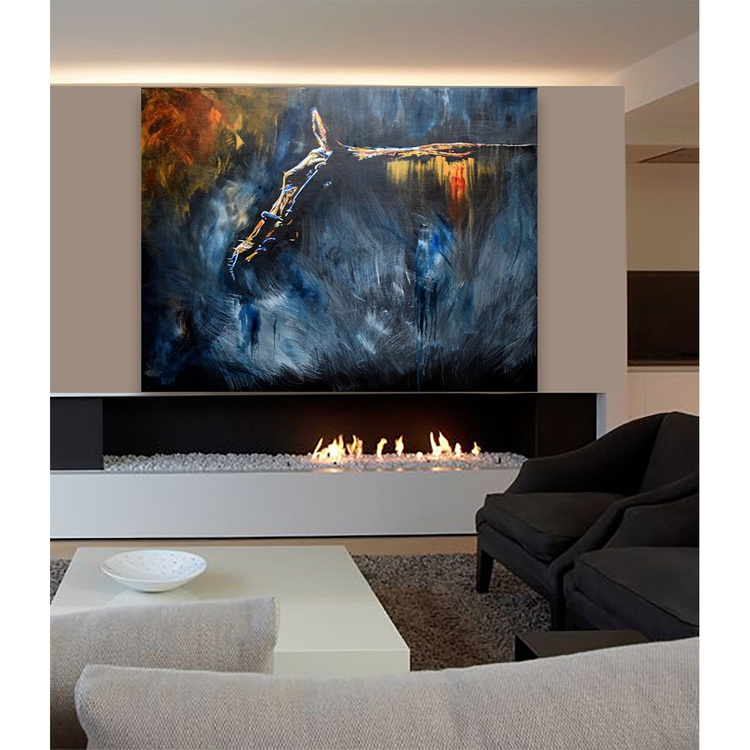 Now you see me / Horse painting Large/ Modern Equine Contemporary - Image 0