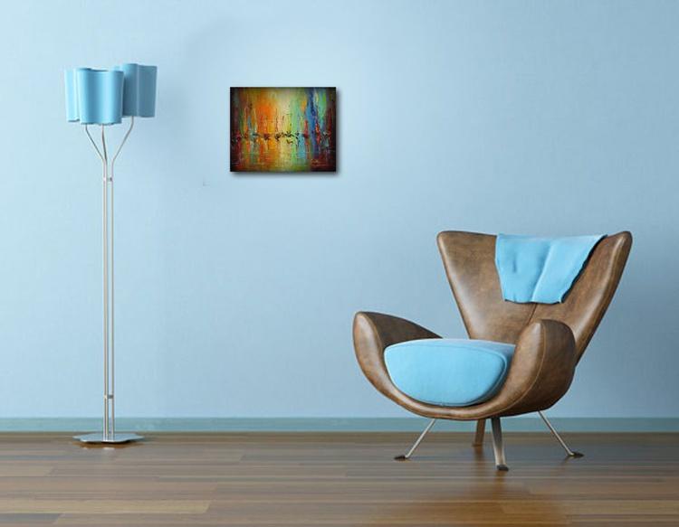 illusions 2, Abstract sailboats Painting, Free shipping - Image 0