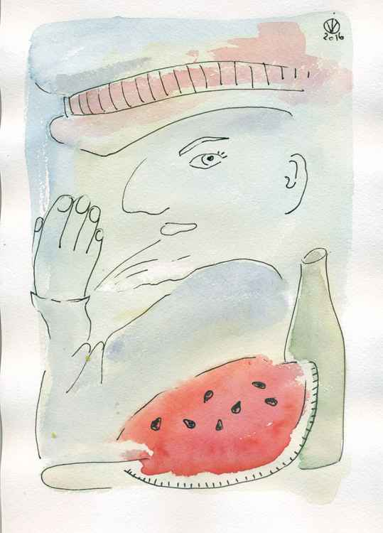 The Grocer Kaplun And His Watermelon
