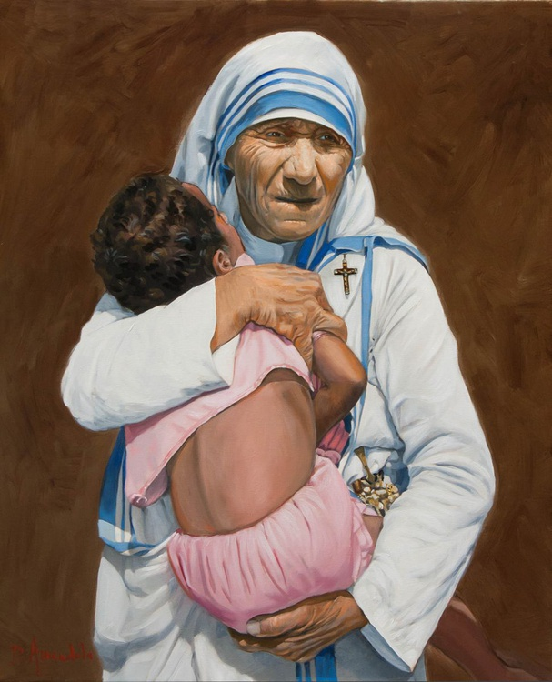 Mother Teresa holding a child - Image 0
