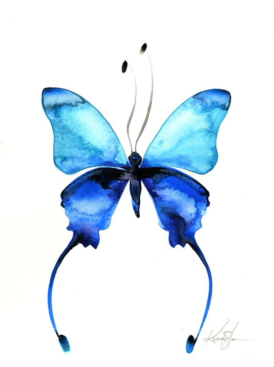 Watercolor Butterfly 11 - Abstract Butterfly Watercolor Painting - Image 0