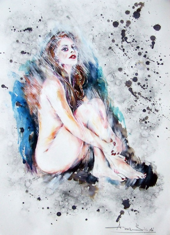 Naked / Mixed media on paper - Image 0