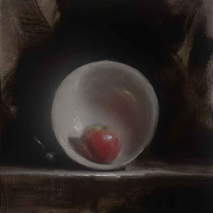 Apple in Bowl