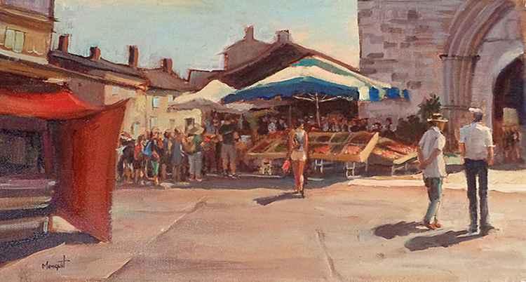 Busy market -