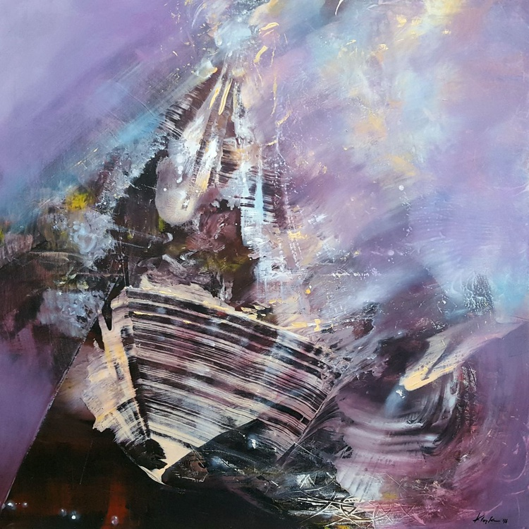 The boat of self conscience diaphane dreamlike composition mindscape by master Ovidiu Kloska - Image 0
