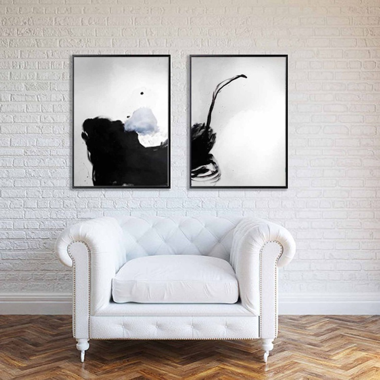 In order to establish facts and reach new conclusions / 3, ABSTRACT LARGE,BLACK AND WHITE,70X100CM-27.5X39.3 INCH - Image 0
