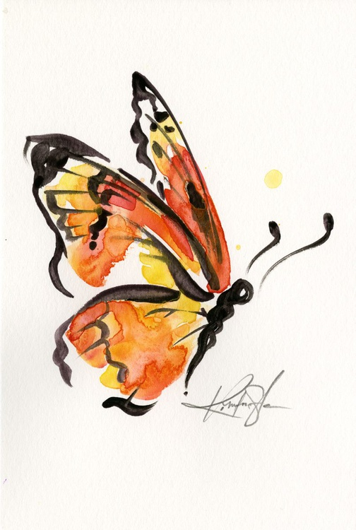 Brushstroke Monarch No. 7 - Image 0