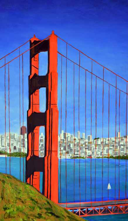 Golden Gate Bridge from Marin Headlands -