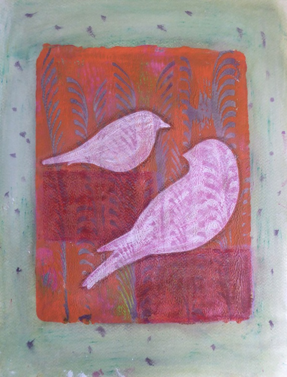 Birds - There you are  (11ins x 14ins) - Image 0