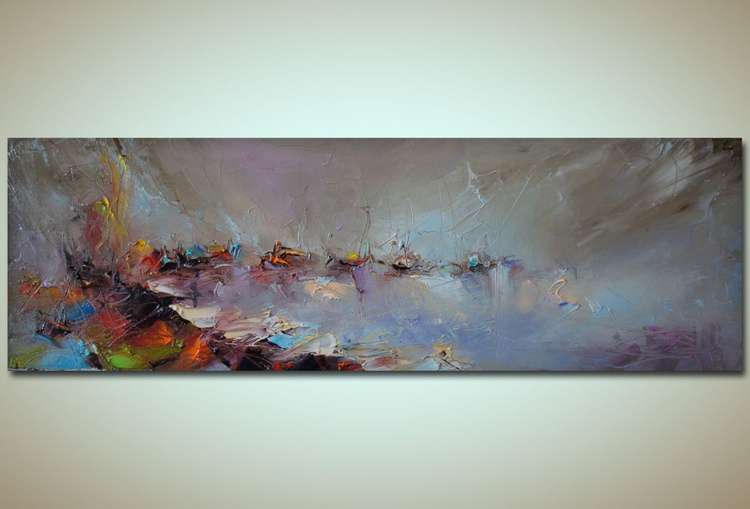 The white coast, Modern Seascape painting, free shipping - Image 0