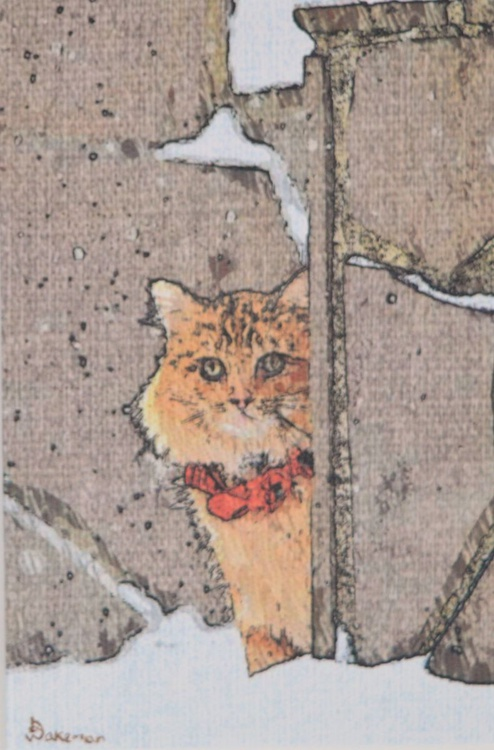 Cat In Red Bow - Image 0
