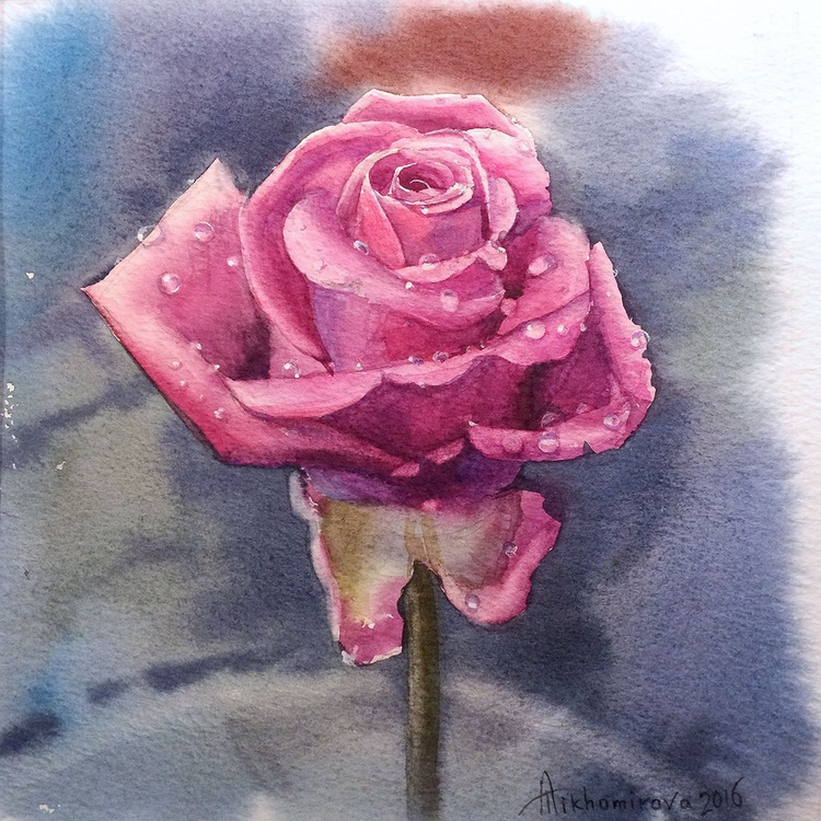 Dewy Pink Rose (Shabby Chic collection) - Image 0