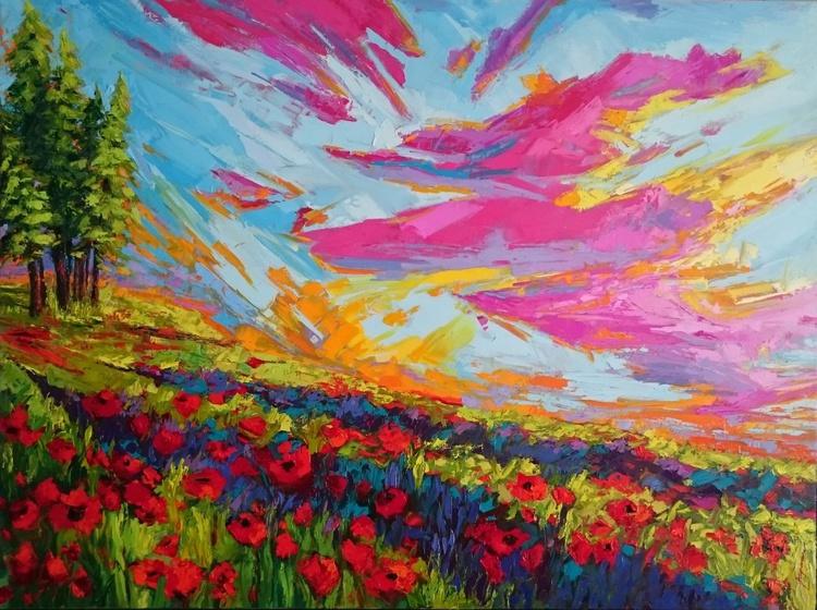 Reflections of Love - Landscape Painting - Image 0