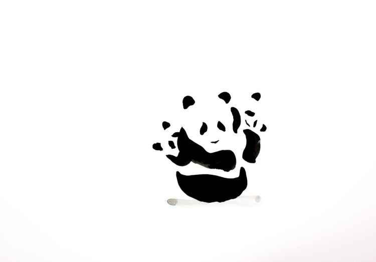Panda and two cubs 4230A