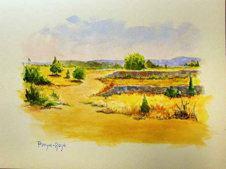 Landscape with noonday