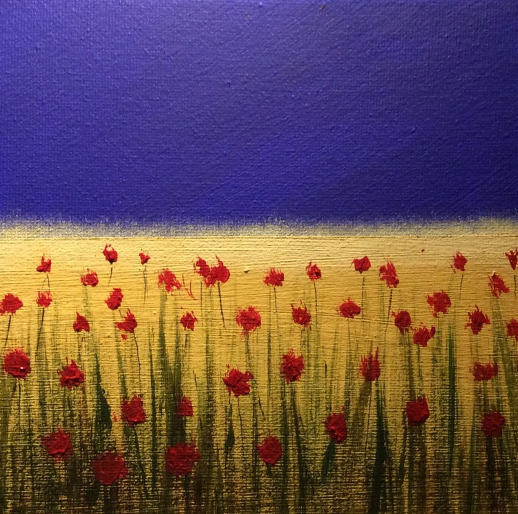 """"""" Field of roses """" ( miniature size) - Image 0"""