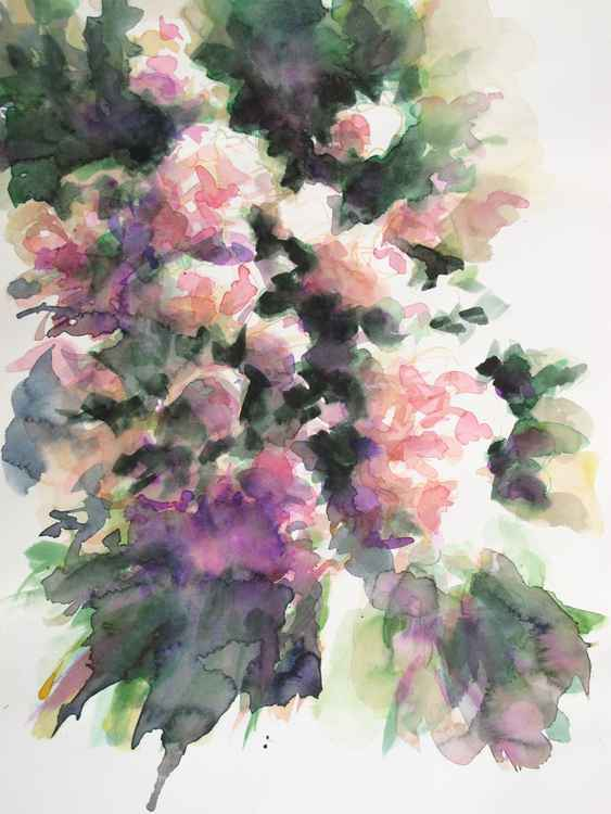 Spring #3 - Roses watercolor study -