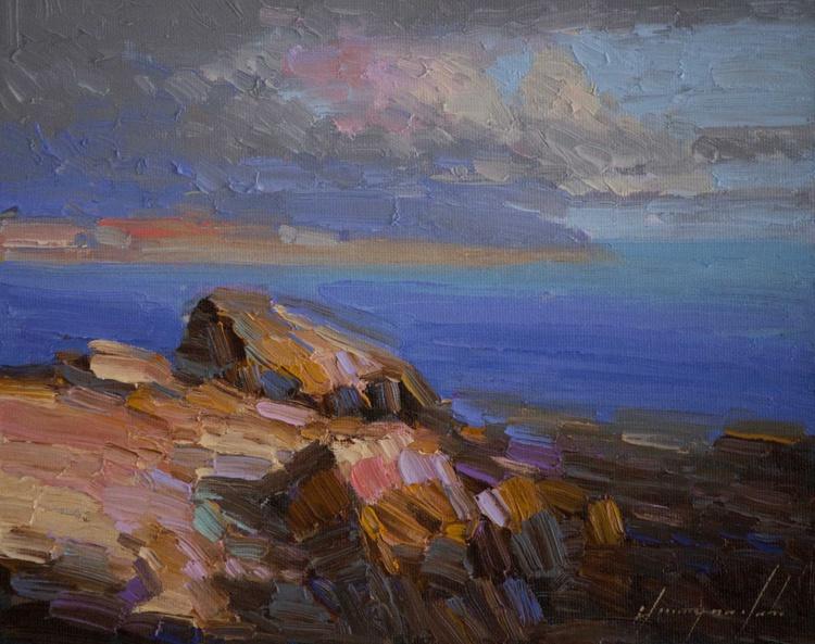 Ocean impressionism Handmade oil Painting on Canvas - Image 0
