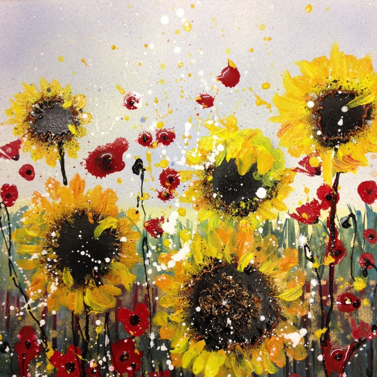 Poppy and sunflower sparkle - Image 0