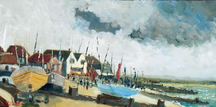 """Yachts at Whitstable, Kent - Size 16"""" wide x 8"""" high - Lovely Gift Idea! - Image 0"""