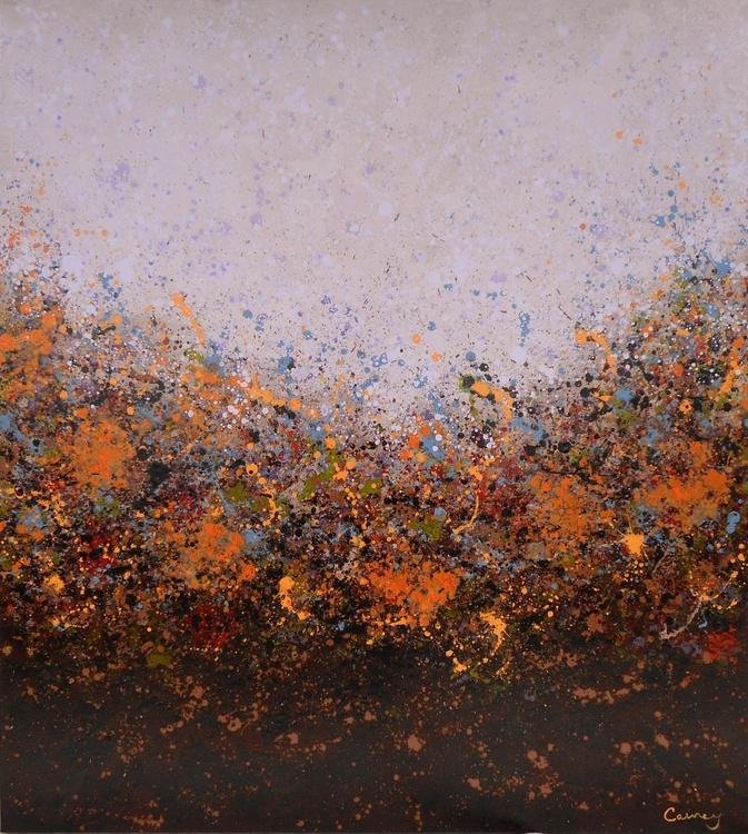Pleasure's Sky - Large Floral Abstract Painting on Canvas - Image 0