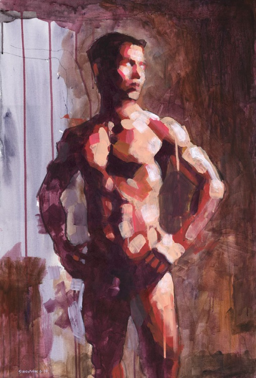Standing Male Nude in Cool Light - Image 0