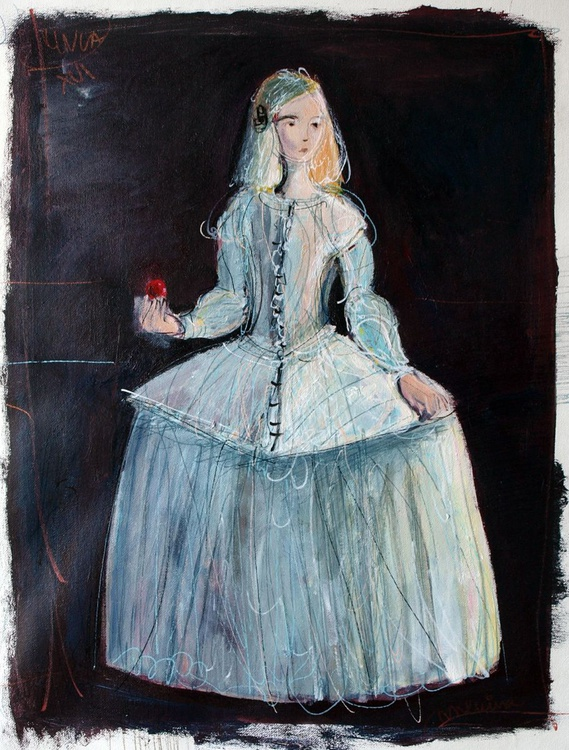 The young Roxanne, dressed as a menina  (study) - Image 0
