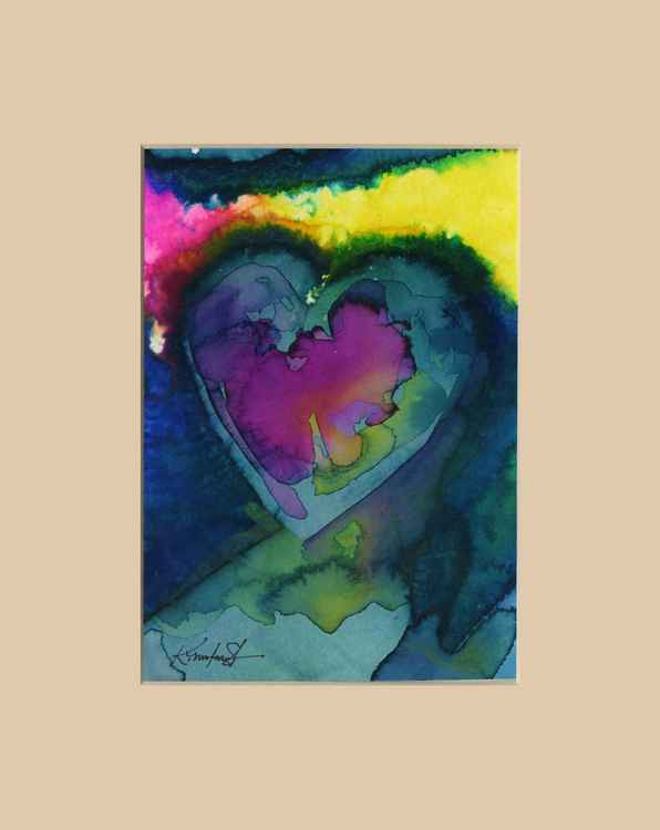 Heart Watercolor Painting, Abstract - Eternal heart No. 971 -