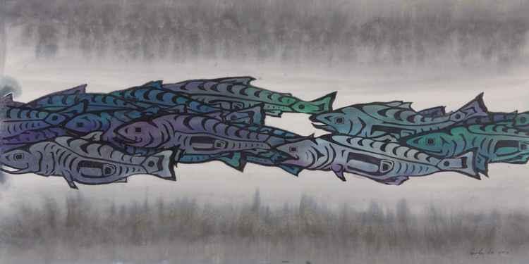 Salmon Passing Fine Art Print