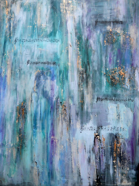 Rhapsody In Blue~ English abstract painter - Image 0
