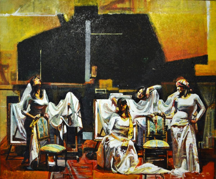 Four Women on Whites - Image 0