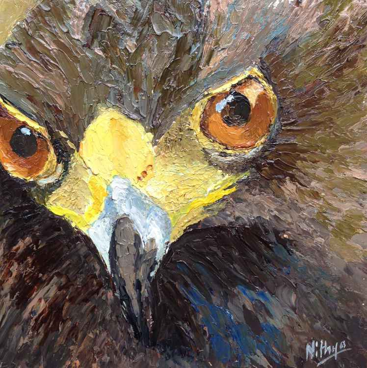 What's up?! - Textured Bird Portrait in Oils -