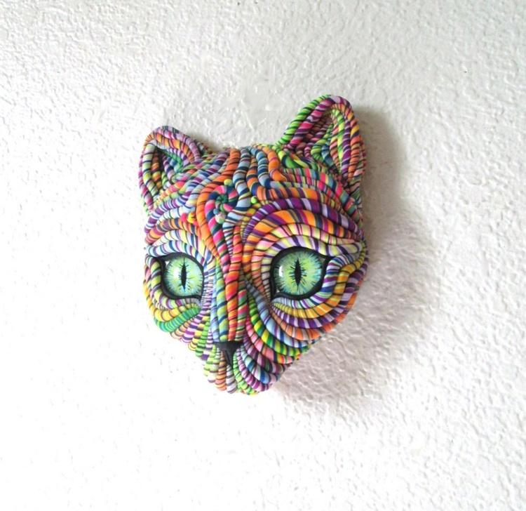 Cosmic Cat Wall Sculpture - Image 0