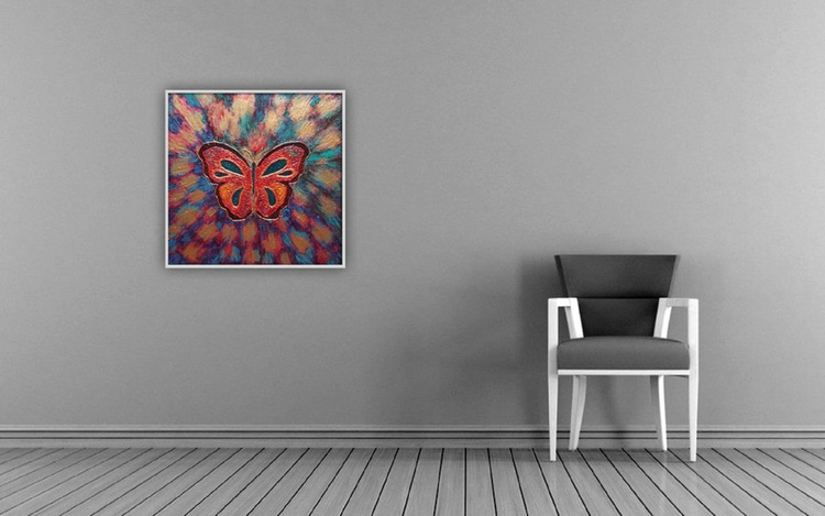 Butterfly - sturktural aclylic painting - Image 0