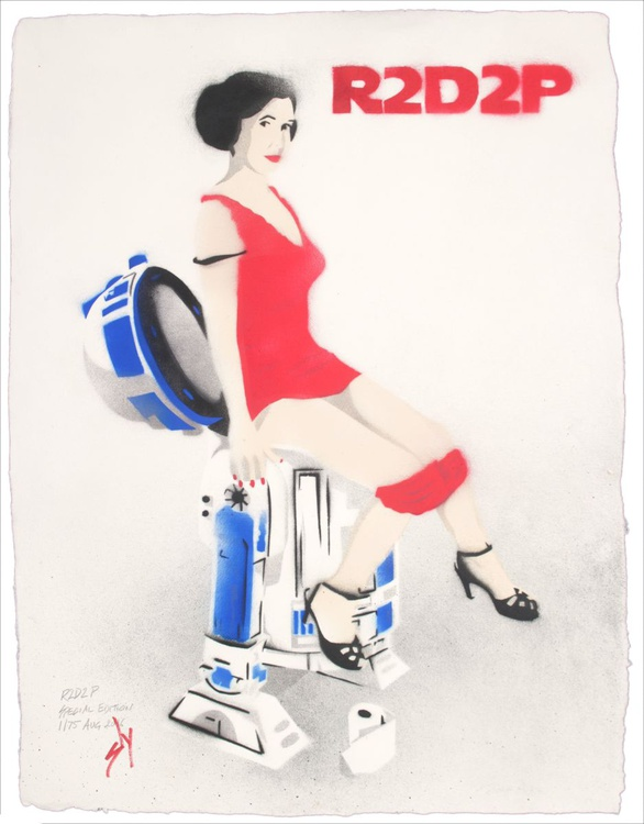 R2D2P Special Edition (on gorgeous water colour paper) - Image 0