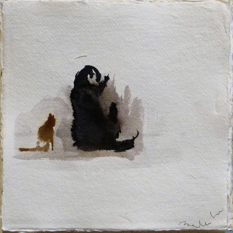 Cat on a ramble 4, 21x21 cm - Image 0