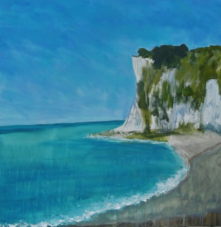 'Sunny Day, St Margaret's Bay' Large Canvas - Image 0