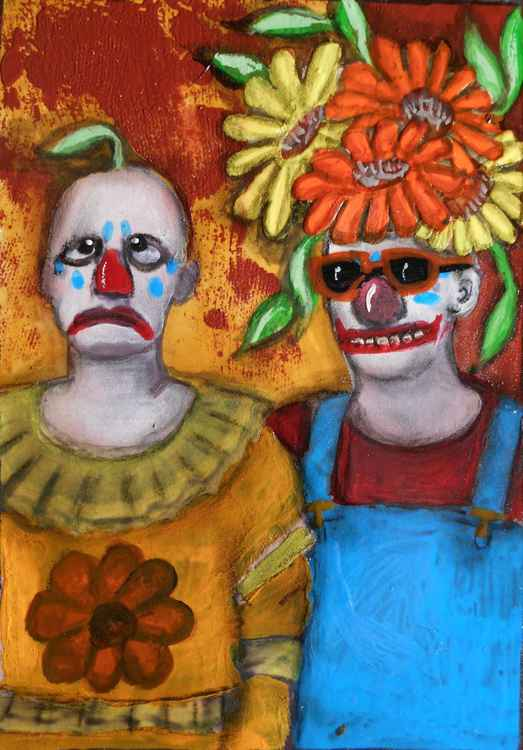 Lil Sprout with Fun Sponge the Clown and Mr. Schadenfreude -