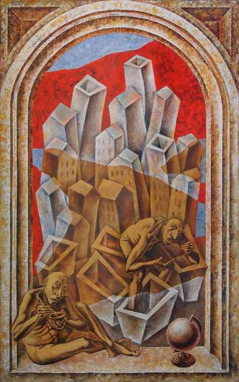Mirage. Fata Morgana. 2015. Canvas, oil. 160x100 cm.
