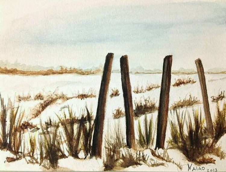 Times of Snow II,  unframed Original painting watercolour - Image 0