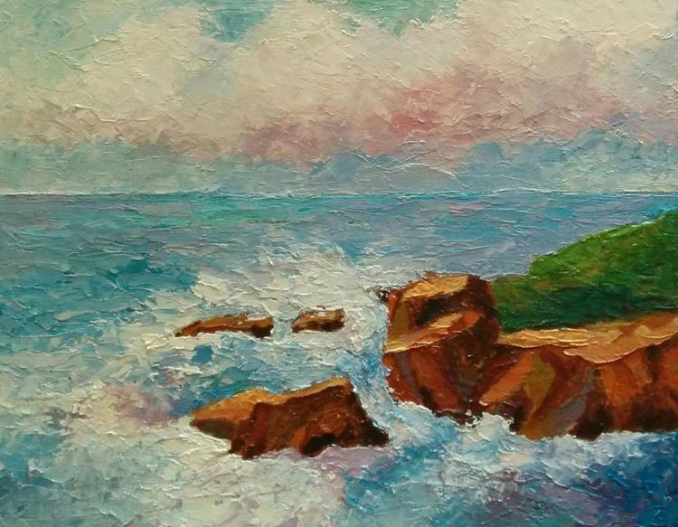 """Impressionistic seascape """"The Drama"""" - Image 0"""