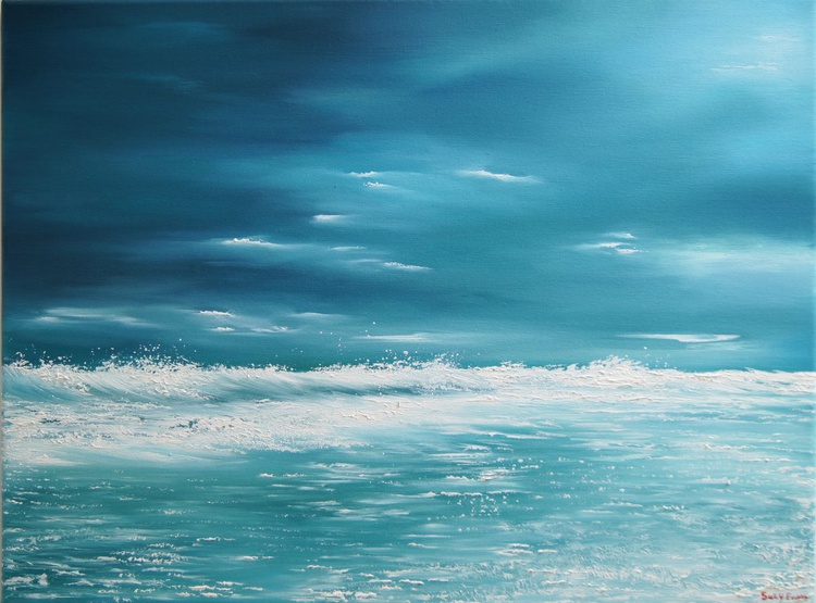 Seascape Painting - Stormy Sea - Image 0