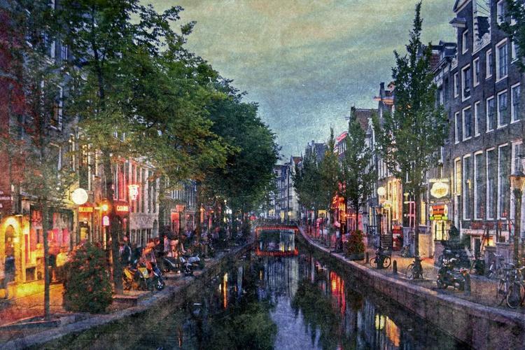 - Summer Night in Amsterdam - Canvas 75 x 50 - Image 0