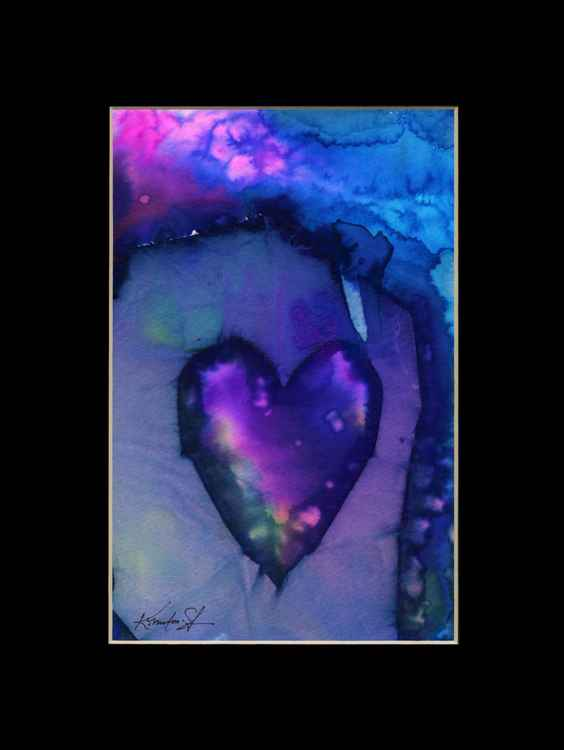 Heart Watercolor Painting, Abstract - Eternal heart No. 20 -