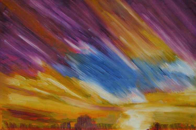 Summer sunset -