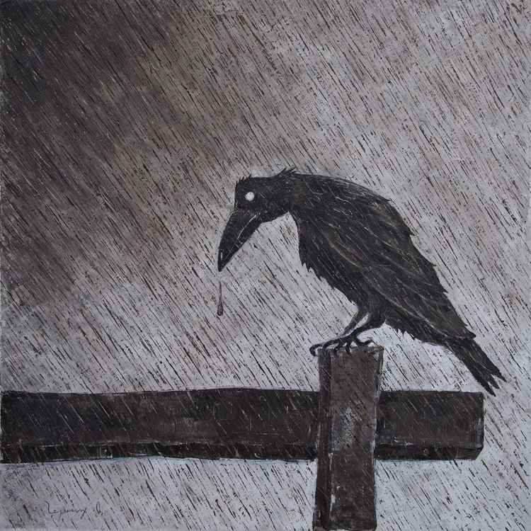 Raven. 2015. Canvas, oil. 50x50 cm